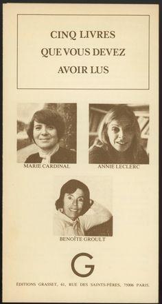 Flyer féminisme Grasset 1977