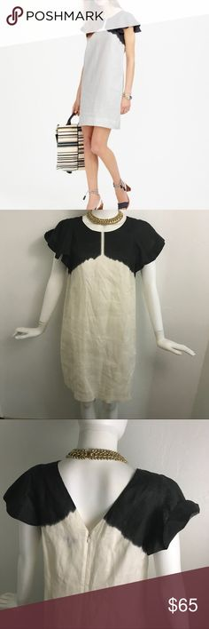 """J. Crew Dipped dyed linen dress IN EXCELLENT USED CONDITION!   Shoulders: 12.5"""" Chest: 19""""  Waist: 20"""" Hips: 21"""" Length: 35.5""""   Our idea of the perfect summer dress is made from lightweight linen & has an easy throw-on-and-go silhouette. This particular style does one better thanks to fluttery sleeves that were specially printed to look like they were dip-dyed by hand. The result: a dress-up, dress-down insta-outfit that you can wear just about anywhere.  100% Linen & Cotton lining  Back…"""