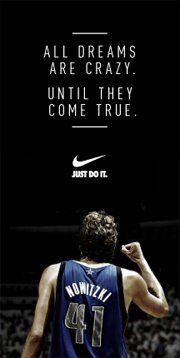 Well said Nike and Dirk