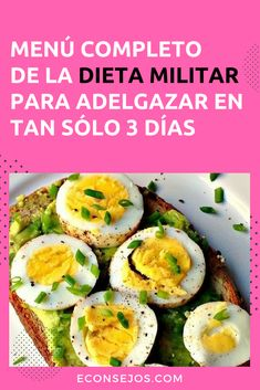 Dieta Militar - 4 Kg en 3 días Diet And Nutrition, Health Diet, Detox Recipes, Healthy Recipes, Different Diets, High Fat Foods, Eating Habits, Healthy Eating, Cooking Recipes