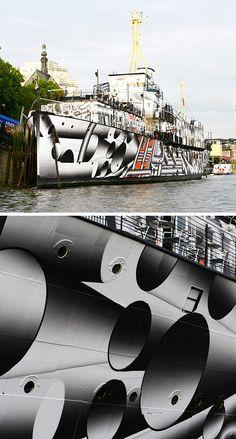 "World War One-Era Ships Redone In ""Dazzle Camouflage"""