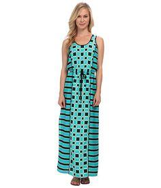 MICHAEL Michael Kors Petite Soho Square S/L Maxi Dress