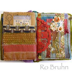 Ro Bruhn - some hand stitched pages in my Etsy journal