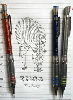 Zebra - drafting pencils Tect 2 Way