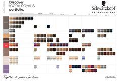 Schwarzkopf Professional Igora's Royal portfolio Schwarzkopf Professional, Color Charts, Photo Wall, Home Decor, Photograph, Decoration Home, Room Decor, Colour Chart, Home Interior Design
