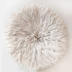 Large Bamileke Feather Juju Hat (Off White) PRE-ORDER