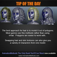 Modeling hair in Maya Modeling Tips, 3d Tutorial, Tip Of The Day, Game Dev, 3d Max, Maya, Tutorials, Good Things, Character
