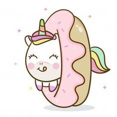 Vivid8 | Freepik Kawaii Disney, Cute Food Drawings, Cute Cartoon Drawings, Cute Kawaii Drawings, Unicorn Drawing, Unicorn Art, Cute Unicorn, Iphone Wallpaper Unicorn, Unicornios Wallpaper