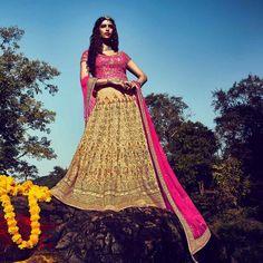 Crystal Silk Indian Bridal Wedding Lehenga Choli