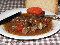 Kacsa szív- és zúzapörkölt Bacon, Beef, Food, Meat, Essen, Meals, Yemek, Pork Belly, Eten