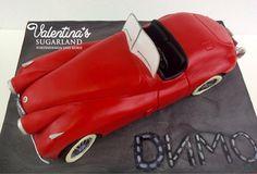 Car Cake Jaguar XK 120 - Cake by Valentina's Sugarland Teen Cakes, Car Cakes, Cake Making, Jaguar Xk, Edible Art, How To Make Cake, Daily Inspiration, Amazing Cakes, Fondant