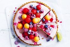 Prepare this easy recipe in the morning so that come dinnertime, you'll have a 'gram-worthy summer dessert worth boasting about. Easy Summer Desserts, Summer Dessert Recipes, Frozen Desserts, Delicious Desserts, Summer Treats, Frozen Treats, Cooking For A Crowd, Easy Cooking, Cooking Recipes