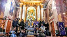 Delivering the Agnus Dei reproduction in the Nª Sª de los Ángeles Church, in Serra, Valencia. Spain
