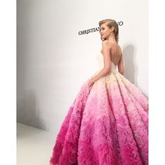 martha_weddings: @csiriano closed his show with this amazing gown! We went backstage to chat with the designer just minutes before the show. Go to our Facebook page to watch the video! | : @darcymiller #marthaweddings #BridalFashionWeek