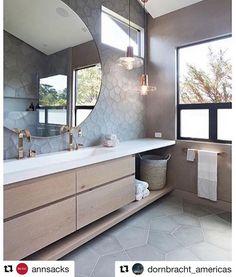 This is a killer bathroom design with countersink. - - This is a killer bathroom design with countersink. This is a killer bathroom design with countersink. We spy… Modern Bathroom Cabinets, Bathroom Renos, Bathroom Furniture, Bathroom Ideas, Bathroom Inspo, Ideal Bathrooms, Small Bathroom, Master Bathroom, Gold Bathroom