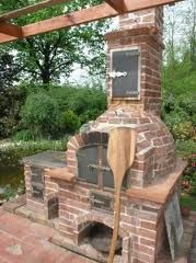 as a good choice if you want something simple yet great Oven Diy, Diy Pizza Oven, Pizza Oven Outdoor, Outdoor Cooking, Wood Burning Oven, Bread Oven, Four A Pizza, Backyard Kitchen, Outdoor Pergola