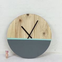 Dipped Timber Clock - 45cm   Poppet & Button