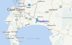 Location guide for Khayelitsha tide station, also showing nearby tide stations and surf breaks. Broken City, Somerset West, Knysna, Port Elizabeth, Table Mountain, Location Map, Cape Town, Geography, Surfing