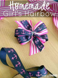 Homemade Girl's Hairbow - A Spark of Creativity