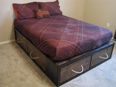 Full Storage Bed | Do It Yourself Home Projects from Ana White