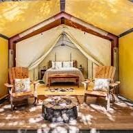 29 Glamping Spots & Cozy Cabins Perfect for Winter Adventures Glamping California, California Travel, Northern California, Luxury Tents, Luxury Camping, Fire Pit And Barbecue, Tuolumne Meadows, Cabin Tent, California National Parks