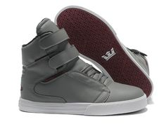 Men's Supra TK Society Grey Maroon Shoes