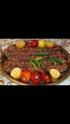 Arabic food Iraqi beef kebab