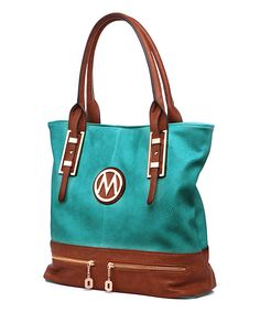MKF Collection Mint Two-Pocket Emblem Tote by MKF Collection #zulily #zulilyfinds