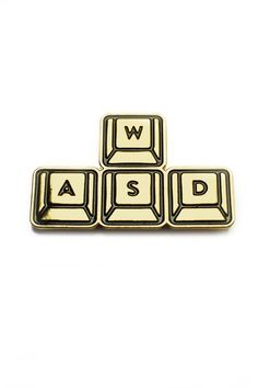 WASD - it's what moves us! Perfect your maneuvers by wearing the WASD cursor movement keys. Adds a dash of PC gaming style to outfits. - Perfec...