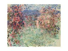 The House Among the Roses (La Maison Dans Les Roses), 1925 Giclee Print by Claude Monet at Art.com