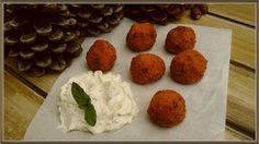 Βουτυρόμελο: Τραχανοκεφτέδες με σάλτσα φέτας