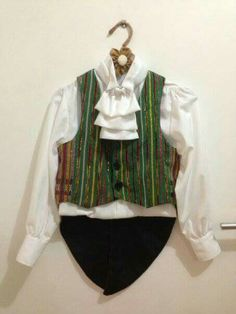 Little Pianist Costume from ulos by Anne Tam #ulosbataknesetradisionalfabric
