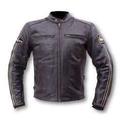 Blouson moto Helstons ACE cuir mat