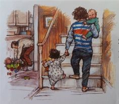 Crafts from the Cwtch: Book Sharing Monday: The Nursery Collection by Shirley Hughes Vintage Artwork, Vintage Children's Books, Book Illustrations, Children's Book Illustration, Shirley Hughes, Children Sketch, In This World, Childrens Books, Illustrators