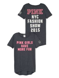 Fashion Show Tee. Orig. $34.95 Clearance $19.99 - PINK - Victoria's Secret