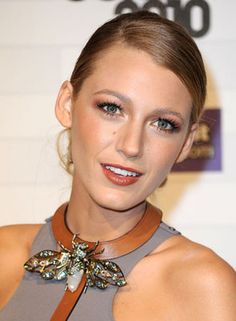 "Blake Lively shows us how to wear your critter brooch front and center. Get my ""En Tremblant Dragonfly"" pin here."