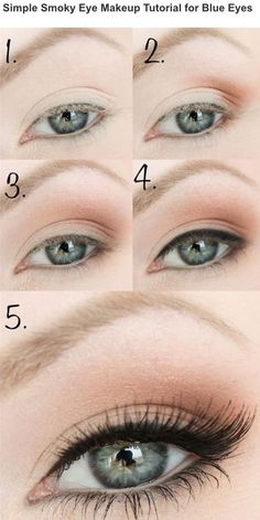 eyebrow shadow tutorial. simple smoky eye makeup tutorial for blue s via eyebrow shadow r