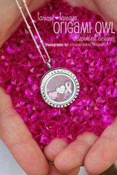 Breast cancer awareness locket