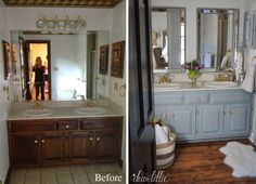 Dear Lillie: Our Inexpensive Mini Makeover on our Master Bathroom (Includes a Cost Breakdown and Some Tips on Sprucing up a Small Bathroom) Diy Bathroom, Bathroom Makeover, Small Toilet, Home Decor, Diy Bathroom Remodel, Bathroom Renovations, Bath Inspiration, Dear Lillie, Bathrooms Remodel