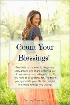 Whenever you feel discouraged, there is a very simple remedy. Count your blessings, and be grateful for all the good in your life. Notice that it's impossible to nurture gratitude, without simultaneously feeling happier. Appreciation and happiness are so closely tied together, that being grateful is one way that you can allow your feelings of happiness to bloom!