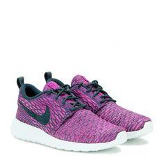 Nike Nike Roshe One Sneakers ($155) ❤ liked on Polyvore featuring shoes, sneakers, purple, nike footwear, nike, purple sneakers, nike trainers and nike sneakers
