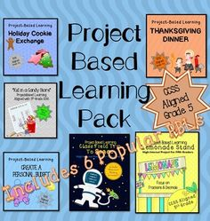 5 Project Based Learning Activities - Covers almost all of the 5th Grade Common Core Standards from decimals  fractions to volume!