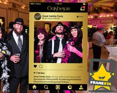 Great Gatsby Party Photo Booth Prop (Digital File Only) Instagram Frame Decorations