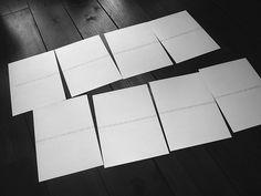 New suite of Robert Barry prints, 2013.