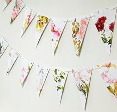 Flowers Garland eco-friendly banner up-cycled by PeonyandThistle