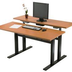 Adjustable Height Computer Desk Workstation