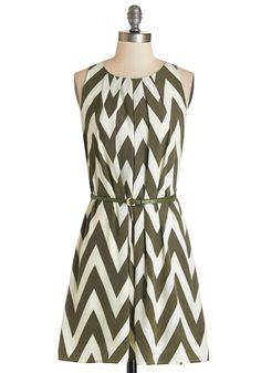 Great Wavelengths Dress in Olive, #ModCloth