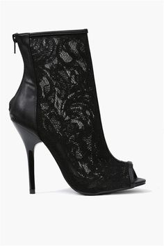 Lace Bootie in Black