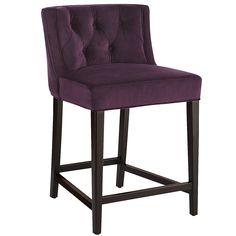 Purple Gisel Counter Stool - Merlot