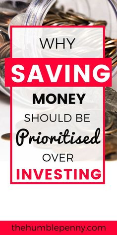 Saving = Fighting for Your Future!There are very specific reasons why you MUST prioritise saving money any day over investing. Read these insights and tips to gain a better appreciation for Why you MUST Save no matter what and make it Top Priority! Save Money On Groceries, Ways To Save Money, Money Tips, Money Budget, Investing Money, Saving Money, Savings And Investment, Savings Plan, Thing 1